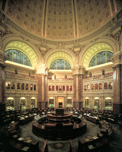 Main Reading Room of the Library of Congress; photo by Michael Dersin